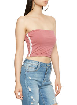 Side Stripe Tube Top - 3402066492188