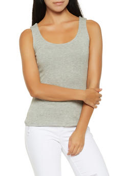 Solid Tank Top - 3402066492870