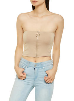 Zip Up Tube Top - 3402066492898