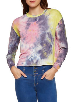 Long Sleeve Tie Dye Tee - 3402066495813