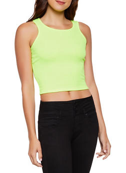 Rib Knit Cropped Tank Top | 3402066496277 - 3402066496277