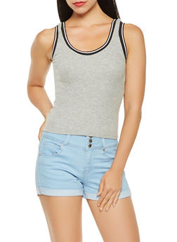 Athletic Band Trim Tank Top - 3402066499532