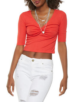 Twist Front Crop Top - 3402069390100