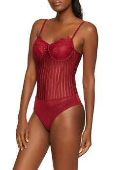 Shadow Stripe Bodysuit - 3402069390103