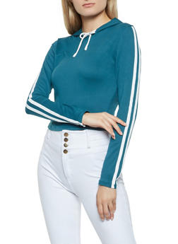 Varsity Stripe Hooded Top - 3402069390335