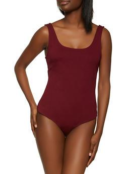 Sleeveless Scoop Neck Ponte Bodysuit - 3402069391071