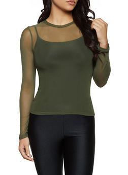 Long Sleeve Mesh Top | 3402069393773 - 3402069393773