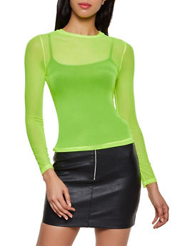 Long Sleeve Mesh Top | 3402069393773 - 3402069393773