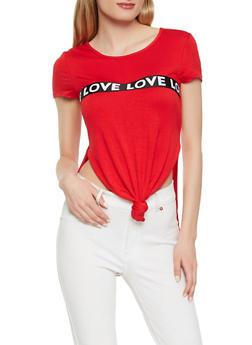 Love Graphic Trim Tee - 3402072240070