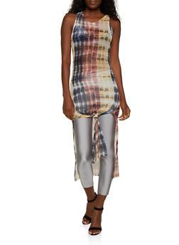 Tie Dye Mesh Maxi Top - 3402072249701