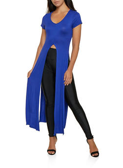 High Slit Maxi Top - 3402075395858