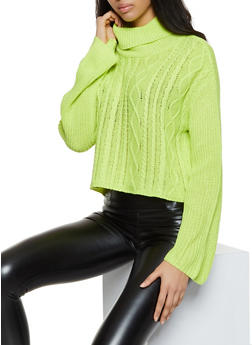 Cable Knit Turtleneck Sweater - 3403015990012