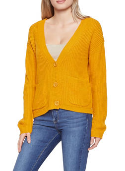 Button Front Knit Cardigan - 3403015990123