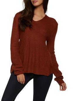 Long Sleeve Twist Back Sweater - 3403015990670
