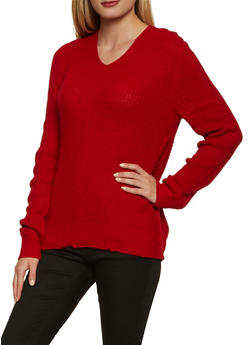 Long Sleeve Twist Back Sweater - 3403015990670