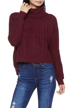 Cable Knit Turtleneck Sweater - 3403015992080