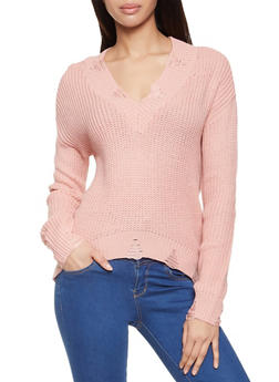Frayed Knit Sweater - 3403015992831