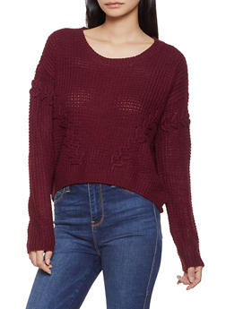 Lace Up High Low Sweater - 3403015993190