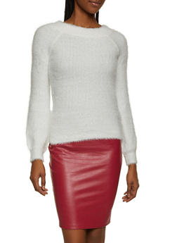 Eyelash Knit Off the Shoulder Sweater - 3403015995111