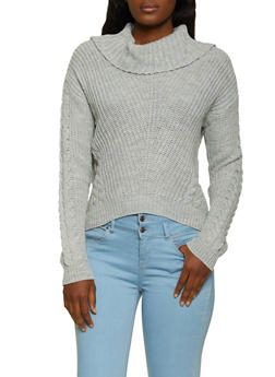 Cowl Neck Cable Knit Sweater | 3403015995310 - 3403015995310