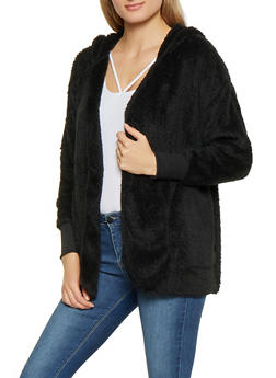 Hooded Sherpa Cardigan - 3403015995530