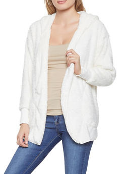 Hooded Sherpa Cardigan - 3403015995530