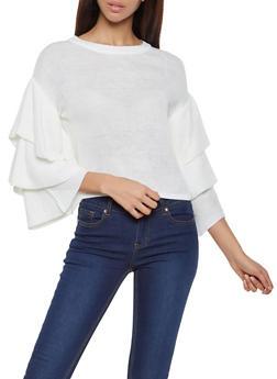 Tiered Sleeve Sweater - 3403015996040