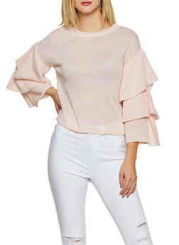 Tiered Sleeve Sweater - 3403015996040