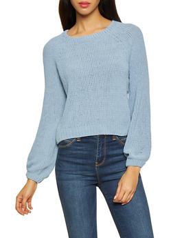Long Sleeve Chenille Sweater - 3403015996091