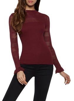 Perforated Detail Sweater - 3403015996120