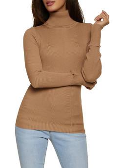 Fixed Cuff Turtleneck Sweater - 3403015996130