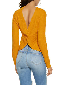 Twist Back Sweater - 3403015998670