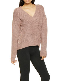 Lace Up Side Sweater - 3403015999891