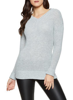 Oversized V Neck Sweater - 3403015999960