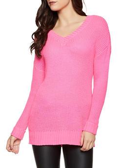 Oversized V Neck Sweater - 3403015999960