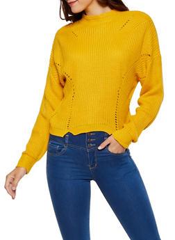 Mock Neck Knit Sweater - 3403061350063