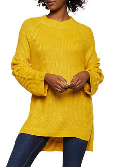 Solid Tunic Sweater - 3403061350156
