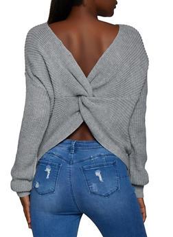 Twist Back Knit Sweater - 3403062702770