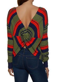 Twist Back Striped Sweater - 3403062702850