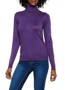 Basic Turtleneck Sweater - 3403062702907