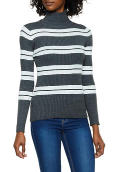 Striped Turtleneck Sweater | 3403062703907 - 3403062703907
