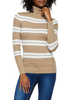 Striped Turtleneck Sweater | 3403062703907 - 3403062703907