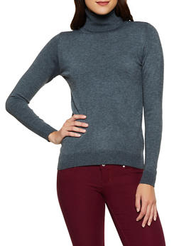 Solid Turtleneck Sweater | 3403062704709 - 3403062704709