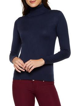 Solid Turtleneck Sweater   3403062704709 - 3403062704709