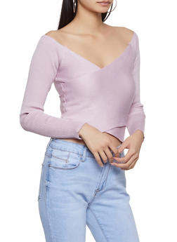 Criss Cross Off the Shoulder Sweater - 3403069391570