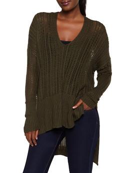 Oversized Knit Sweater - 3403069395009