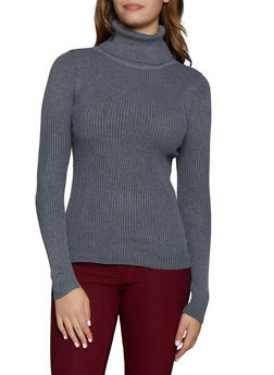 Long Sleeve Solid Turtleneck - 3403072292911