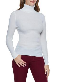 Long Sleeve Solid Turtleneck - 3403072292911