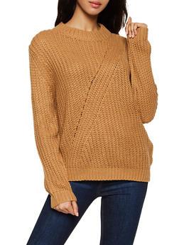 Knit Long Sleeve Sweater - 3403075390202