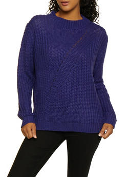 Knit Long Sleeve Sweater - 3403075390202